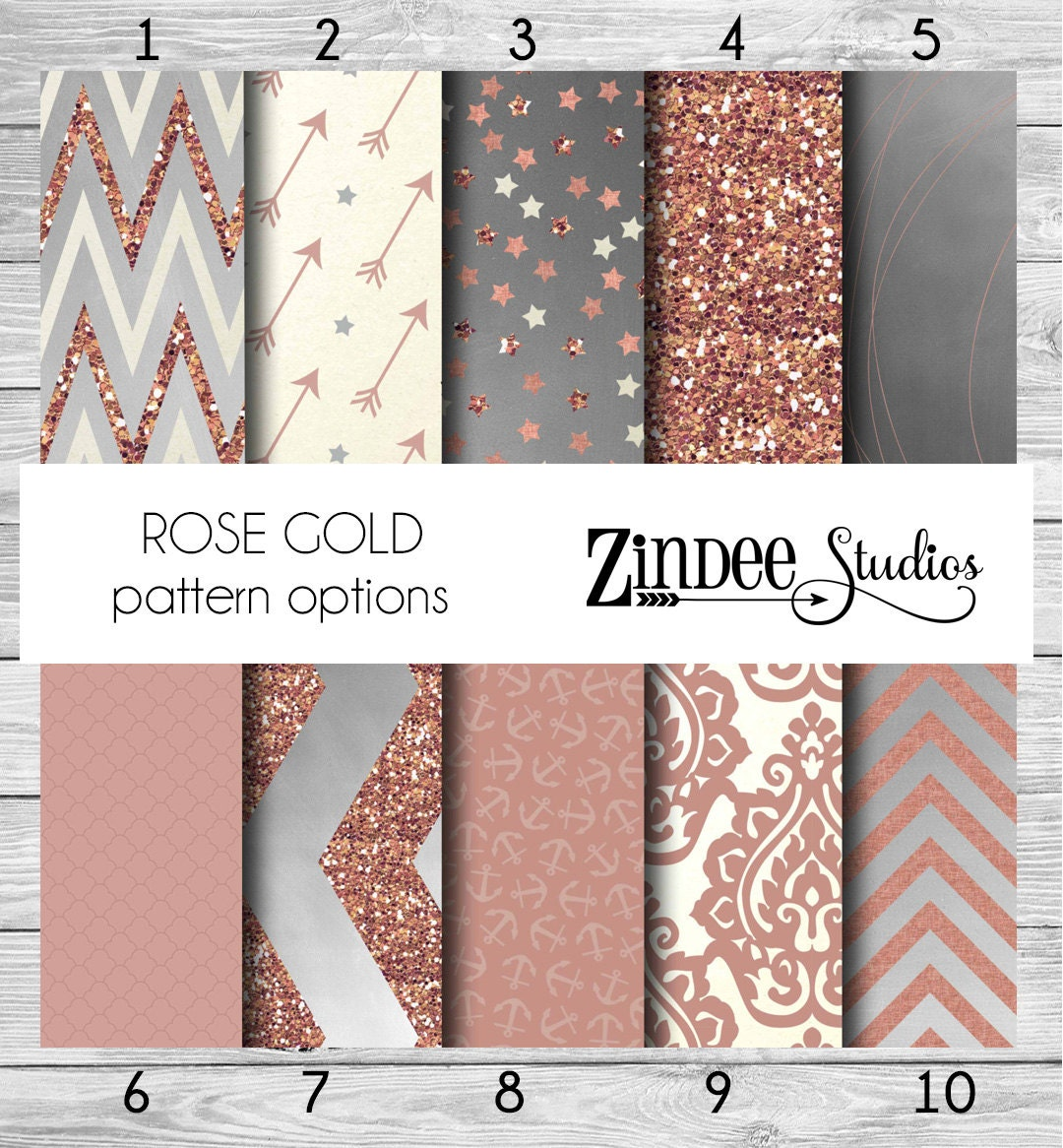 Rose gold pattern vinyl heat transfer or adhesive printed for Rose adesive