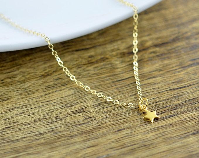 Gold Star Necklace -  Evil Eye Necklace, Hamsa Necklace, Star Necklace, Cross Necklace, Protection Gift ,Yoga Jewelry, Yoga Necklace