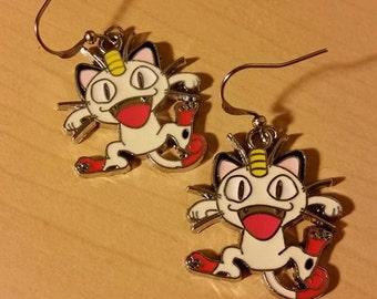 Pokemon Meowth earrings