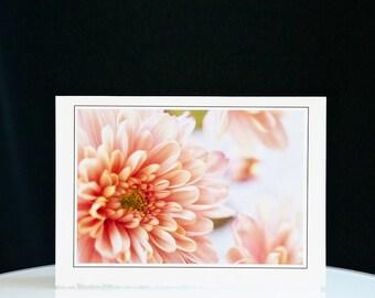 Card Art - Handmade - Dahlias - Birthday - Wedding - Holidays - Anniversary - Free Shipping