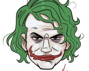 Joker - The Dark Knight 4x6 Print