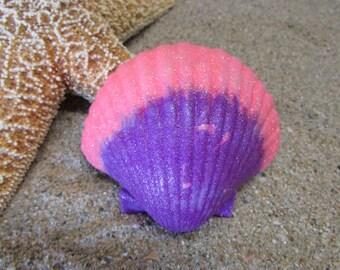 Pink And Purple Glittered Large Seashell- Mermaid Accessories