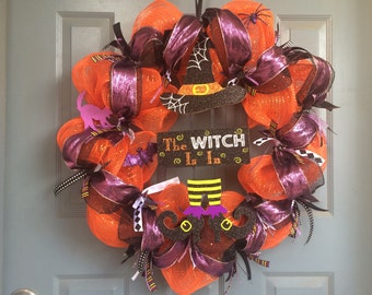 The Witch is In Decomesh Halloween Wreath  ID number 473214526