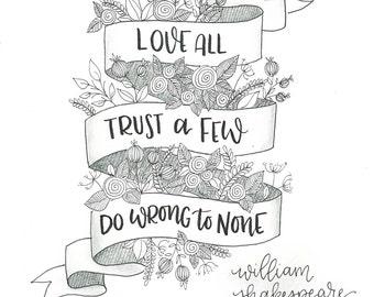 William Shakespeare Banner Quote