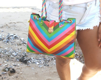Colorful Rainbow Tote
