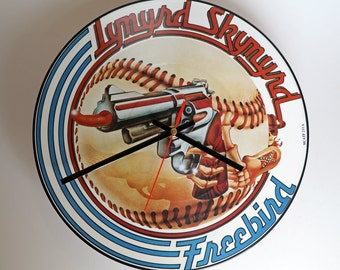 "Lynyrd Skynyrd - Freebird 12"" Picture Disc record Clock"