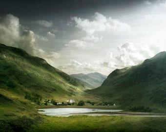 Isle of Skye, Scotland, mountains, landscape photography, wall art, fine art print, steps, sky, photographic print