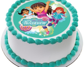 Dora the Explorer Time for Aventura Edible Cake Topper