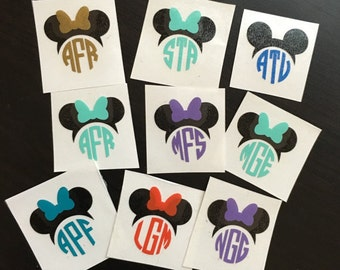 Personalized Disney Mouse Ears Decal