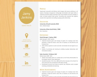 letter and a4 premade cv template professional cover letter template