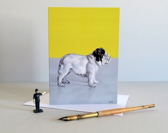 British bulldog card, English bulldog card, dog card, bulldog gift, dog lover, Greetings card, Diecast toy, vintage toys - BEST OF BRITISH -