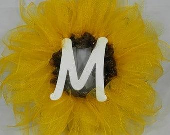 Sunflower Monogram Wreath