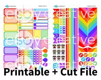 Rainbow Realness - Erin Condren Horizontal Weekly Sticker Kit Printable - HWK-012 - INSTANT DOWNLOAD