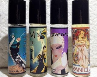 Roll On Perfume Oil - Vanilla, Musk, Lavender or Jasmine