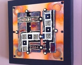 Single Tile Raku Industrial Wall Art