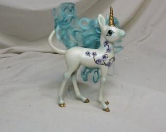 "OOAK fairy cute UNICORN ""Filigree"" pony horse sculpture By Kate Sjoberg"