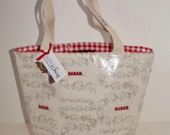 Babar Fabric Reusable Lunch Bag, Lunch Sack, Reusable Bag