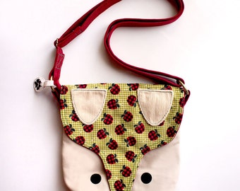 Sling Purse - The Fantastic Fox (Checkered Apples)