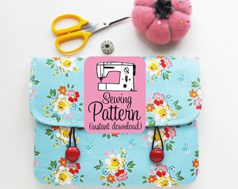 Envelope Clutch PDF Sewing Pattern | Easy Beginner Sewing Project PDF Tutorial