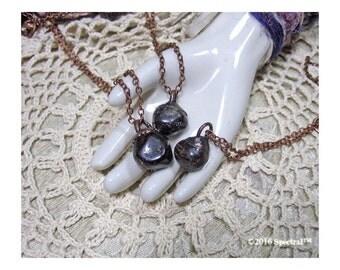 Electroformed Garnet Necklace | Raw Garnet Crystal Amulet Necklace | Electroformed Garnet | Gemstone Charm | Boho Gypsy | Statement Necklace