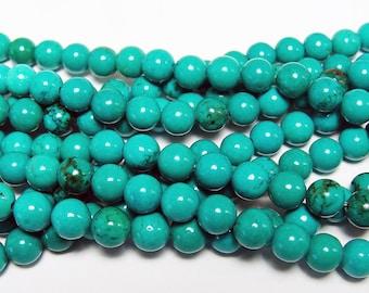 Chinese Turquoise Round Gemstone Beads