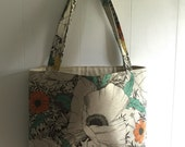 RESERVED Poppy Daisy Big Blooms Large Tote Bag