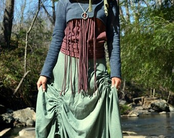 Hemp skirt custom made and hand dyed // organic clothing // eco-friendly // hemp clothing // maxi skirt