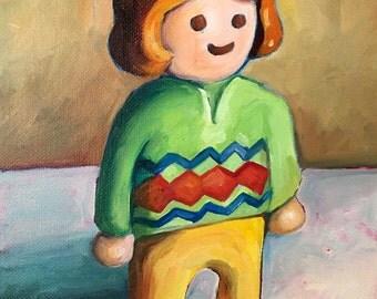 Toy Still Life: Original Oil Painting