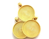 5 Gold tone 1 inch pendant trays, frames, charm base, bezel for jewelry, key chains, boot jewelry