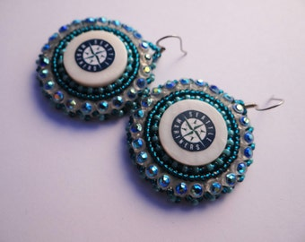 Seattle Mariners Beaded Earrings