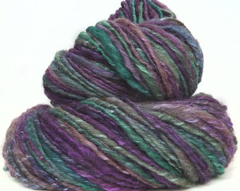 Handspun Yarn BFL wool silk