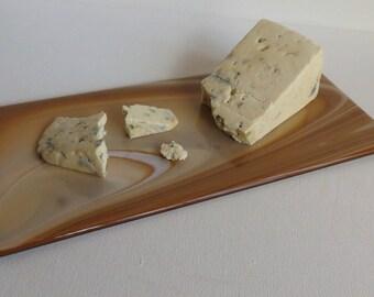 Brown Swirl Cheese/Dessert Dish, Smokeylady54