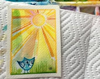 Daylight original ACEO art painting