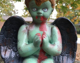 Zombie Angel Boy Statue