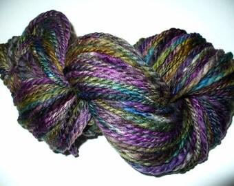 Handspun Wool Yarn for Knitting Crochet