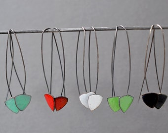 Calder Earrings- long enamel drops- available in 8 colors.