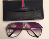 Vintage 1980s BMW M Design Aviator Sunglasses with Matching Case