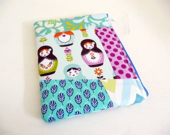 Patchwork Nesting Dolls Kindle Paperwhite or Touch Sleeve