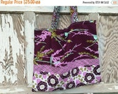 35% OFF CRAZY SALE- Purple Bird Tote Bag-Library Bag
