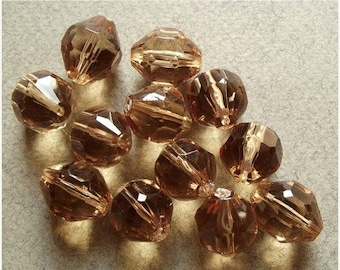 On Sale Vintage champagne faceted beads