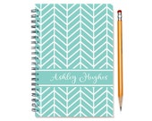 Personalized journal, Custom Gift Idea, Custom notebook, Personal Book, Lined Paper, Many Color Choices, Chevrons, Your Name, SKU: chev sc