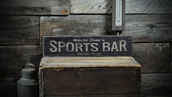 Sports bar wood sign personalized lover name