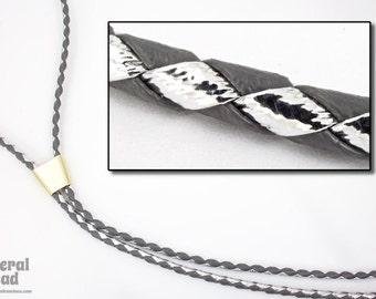 "36"" Grey/Metallic Silver Bolo Cord (2 Pcs) #BOLO35"