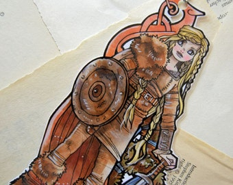Bookmarks  -  Laminated - Charm - Paper Goods - Handmade - Paper Craft - The Viking Girl