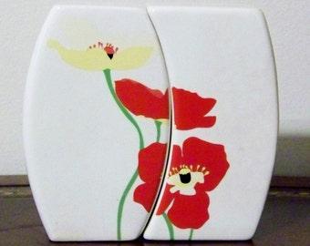 Vintage Oriental Poppies Salt & Pepper Shakers Vera Neumann Marimekko Style