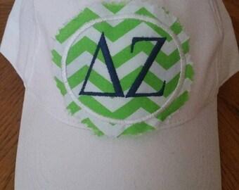Adult Sorority  Rag patch Monogrammed baseball hat