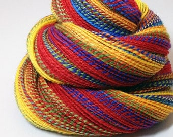 Handspun Yarn - Rainbow - 265 Yards