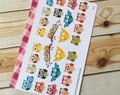 Happy Owl Stickers for Erin Condren Life Planner (ID146)