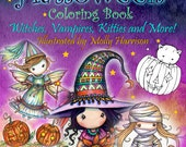 Whimsical Halloween - Molly Harrison - Coloring Book - Cute Fairies, Mermaids, Witches, Angels and More!  Adults and Children