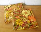 vintage mod flower napkins
